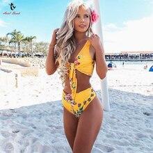 Ariel Sarah Floral High Waist Bikini Sexy Women Swimsuit Print Swimwear Brazilian Bikini Set Bathing Suit Maillot De Bain Femme