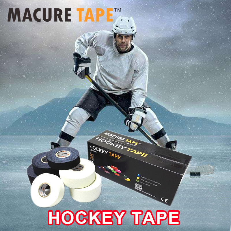 1Pc 1 x 25 Yards Cloth Hockey Tape Sport Safety Football Volleyball Basketball Knee Pads Hockey Stick Tape Elbow Golf Tape bauer nike hockey supreme 1000 referee hockey elbow pads