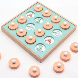 Image 3 - 몬테소리 메모리 경기 체스 게임 3D 퍼즐 나무 조기 교육 가족 파티 캐주얼 상호 작용 게임 장난감 어린이 키즈