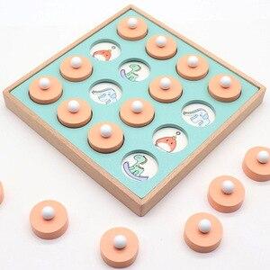 Image 3 - Jeu de mémoire Montessori, puzzle 3D en bois, jeu interactif, éducatif précoce, jeu interactif, décontracté, pour enfant