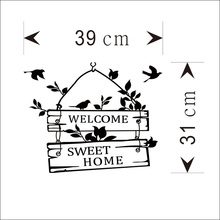 цена на Welcome Sweet Home Door Sign Decoration Wall Decals ZYVA-8253-NA Decorative Vinyl Wall Stickers For Home
