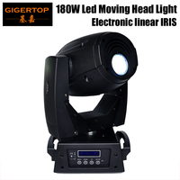 Gigertop 180W Led Moving Head Spot Light DMX 17 Channels Sound/Auto Mode Build In Program Eletrical Linear IRIS Beam Zoom Adjust