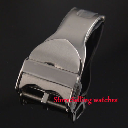 18mm Silver stainless steel deployment buckle clasp buckle fit parnis watch 2016 hight quality 316l stainless steel watch clasp 18mm silver