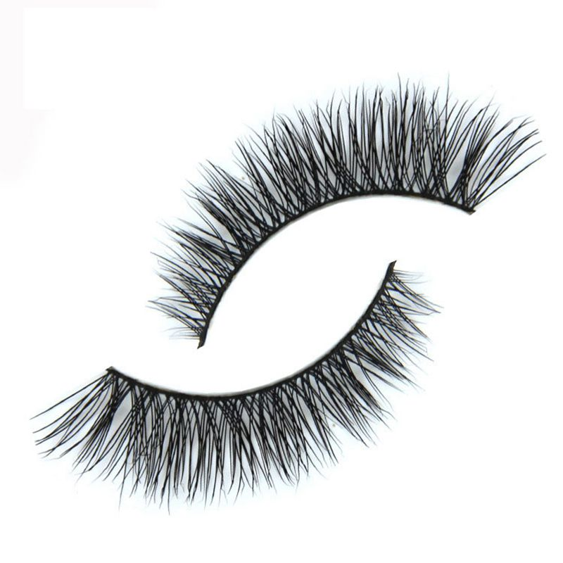 Stage <font><b>Nude</b></font> Makeup False Eyelashes 100% Pure Handmade Cotton Stems Fake Eyelashes Winged Elongated Bushy Natural <font><b>Mink</b></font> Lashes