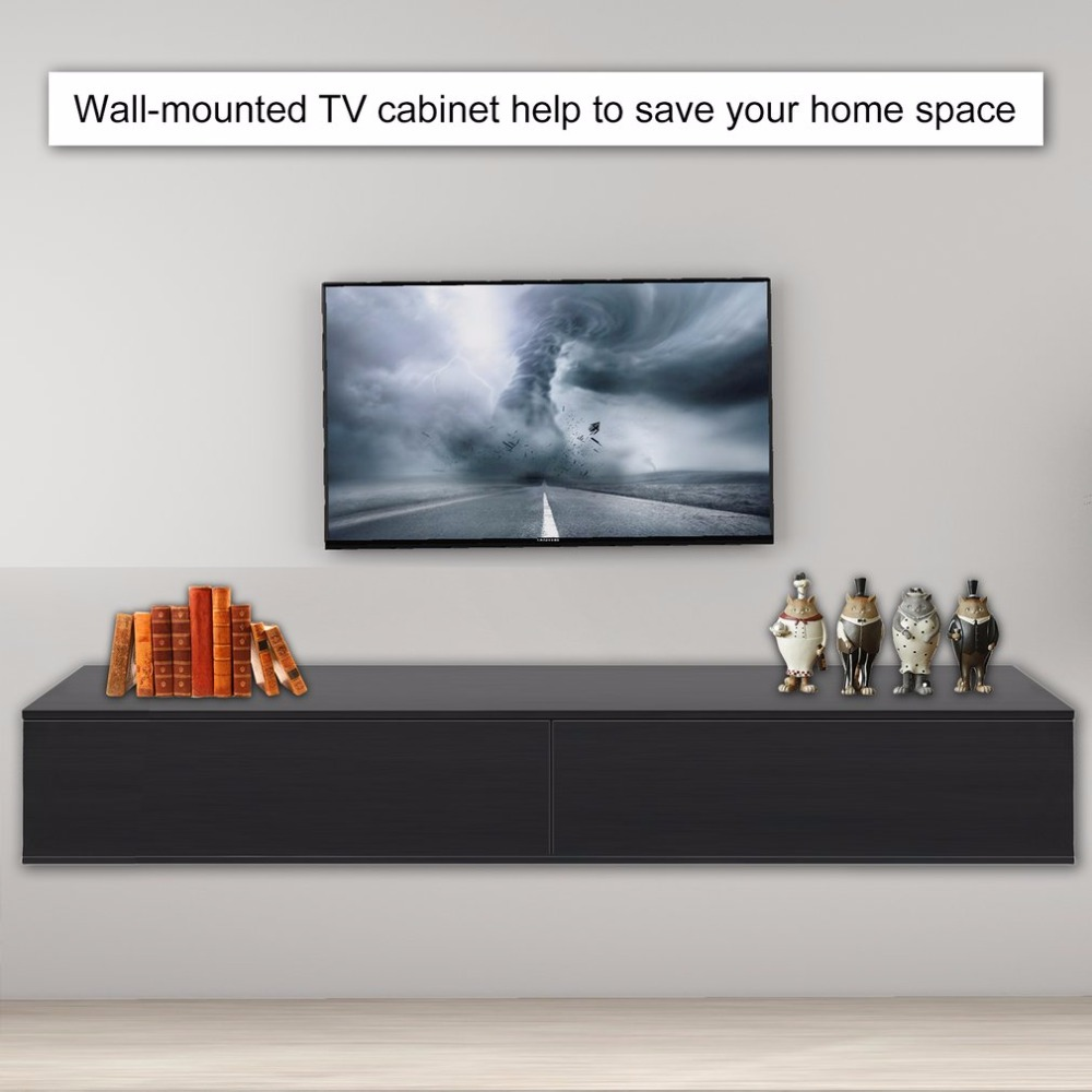 Wall Mounted High Glossy TV Cabinet TV Board Rack Home Storage Entertainment Decorative Furniture For Living Room Bedroom