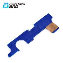 Fightingbro reforço placa seletor para airsoft aeg versão 2 m4 caixa de velocidades acessórios paintball armas de ar caça ao ar livre