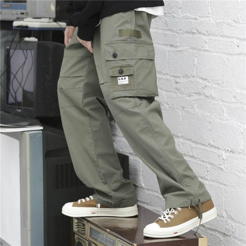 Streetwear Militar Harajuku Pantalones Esposas Green Carga army De Táctico Harén Black Suelto Vintage TqXqfU