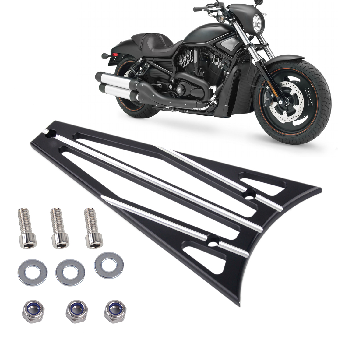 CITALL 3 Columns Billet Deep Cut Frame Grill For Harley Electra Glide Road King Road Street Glide FLHT FLHR FLTR FLHX 2009~ 2013 brand new mid frame air deflector trims for harley cvo limited road king electra glide street electra tri glide flhx 2009 2016