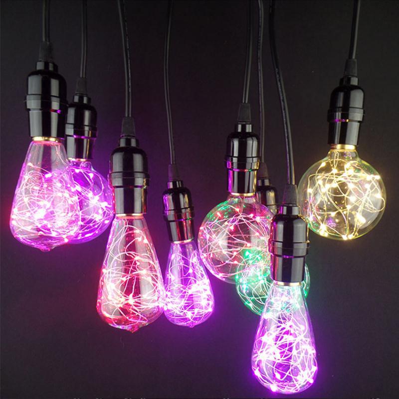 Mabor ST64 AC85-265V Lamp Bulb Copper Wire Fairy Light Christmas Festivals Lighting Decoration