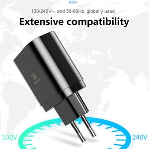 Image 5 - Baseus 3 Ports Charger with Digital Display 3.4A Max Fast Charging Wall Adapter Charger For Phone