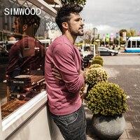 SIMWOOD 2018 Spring New Sweatshirts Men Vintage Pocket Hoodies Men Slim Fit 100 Cotton Casual Pullover