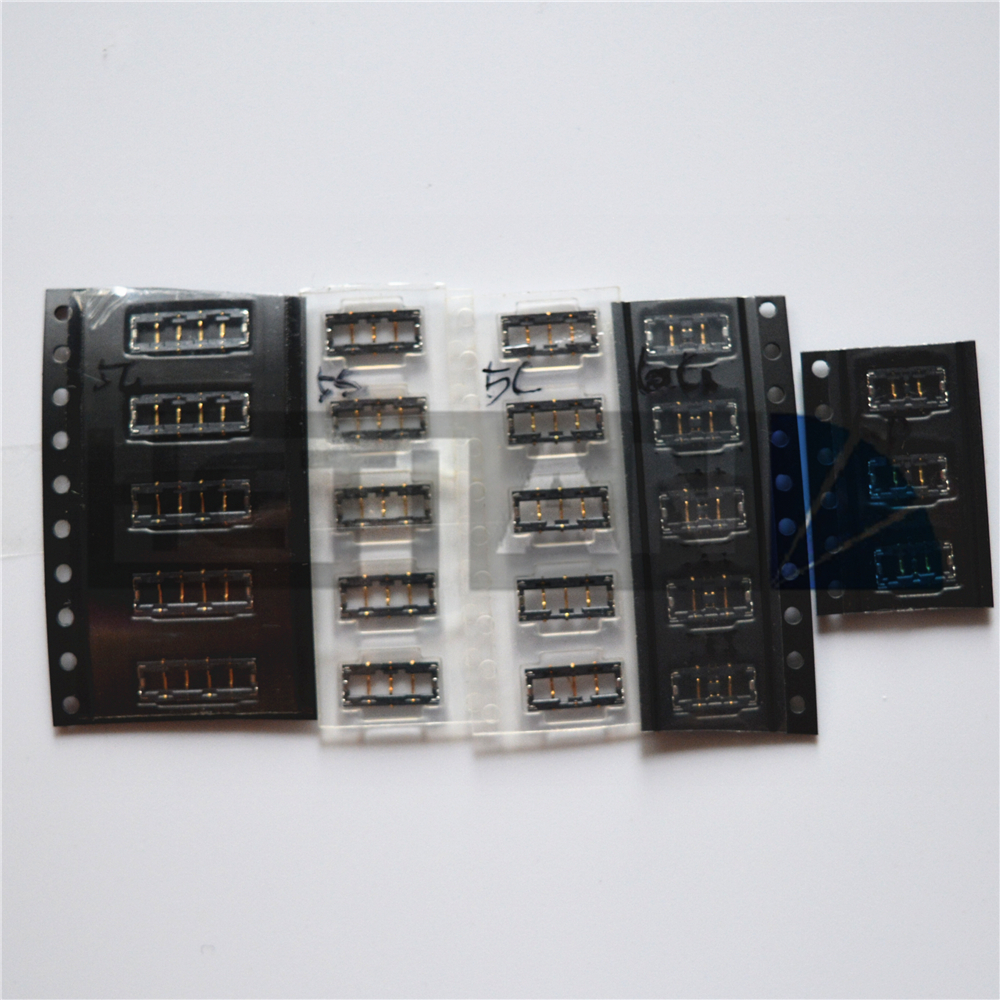 5PCS Battery FPC <font><b>Connector</b></font> Clip Plug On MotherBoard For <font><b>iPhone</b></font> <font><b>6S</b></font> <font><b>6S</b></font> Plus 6 6 Plus 4 4s 5 5S 5C 7 7G 7P 7 plus image