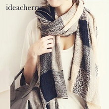 Ideacherry Hot Winter Scarf 2016 Tartan Scarf Women Cotton Cashmere Plaid Scarf New Designer Unisex Acrylic Basic Warm Bufandas