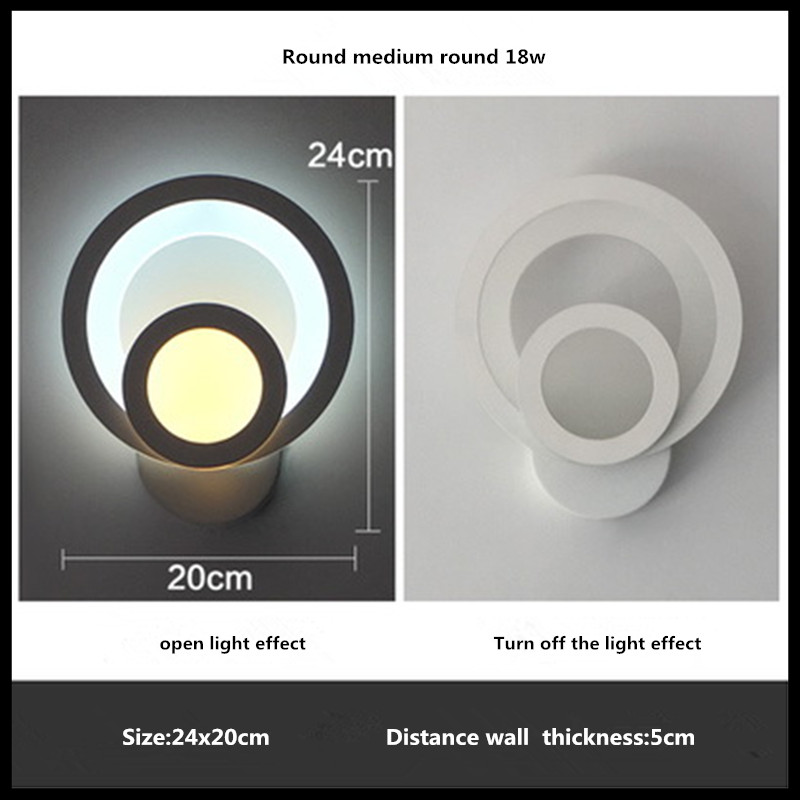 Modern Led Wall Lamp 18W Wall Sconces Indoor Stair Light Fixture Bedroom Bedside Living Room Home Hallway Loft Wall Lamp fashion rustic iron bedroom bedside wall light fixture home deco living room e27 wall lamp european vintage glass wall sconces