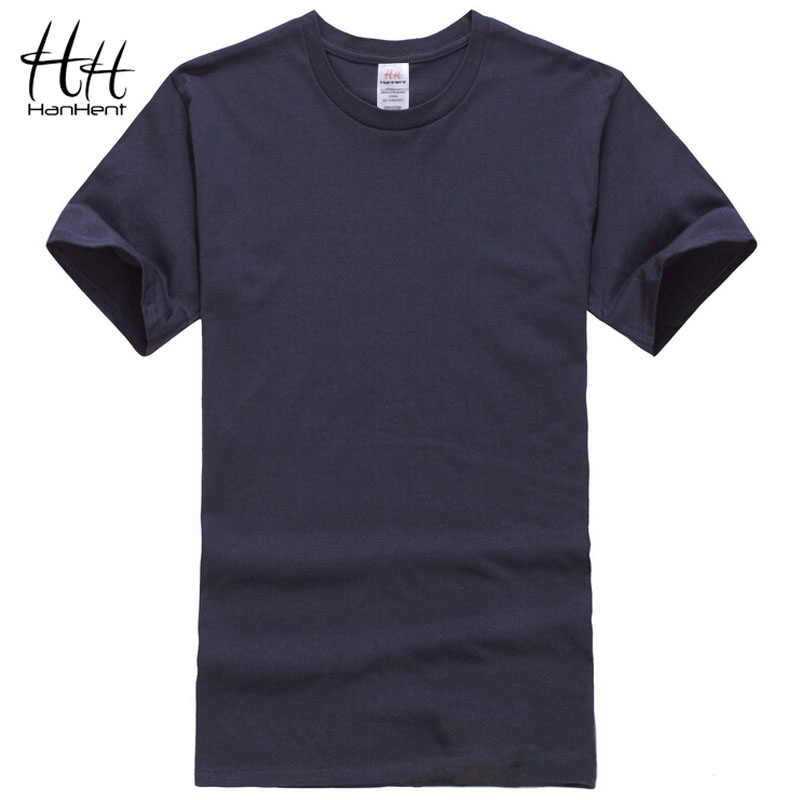 Hanhent cotton men t shirts classical 2016 short sleeve o for One color t shirt