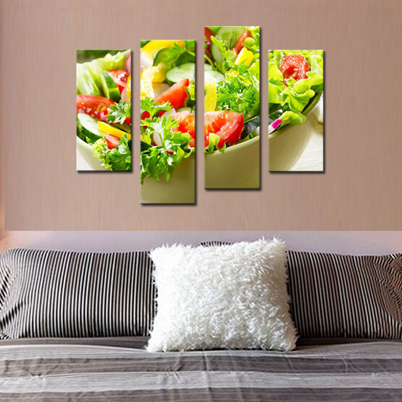 Purple Vegetable Wall Art: Aliexpress.com : Buy 4 Panles Vegetable Canvas Paintings