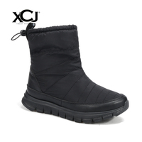 Women's Winter Shoes Plus Big Size Brand Women Shoes Women Winter Boots Plush Warmful High Quality Bling Mid Calf Boot XCJ