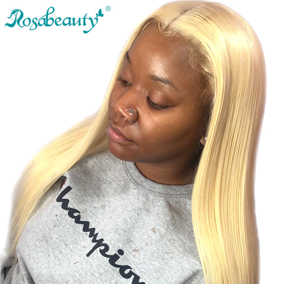 Rosabeauty 613 Transparent Lace Front Human Hair Wigs Blonde Frontal Wigs For Black Women Brazilian Straight