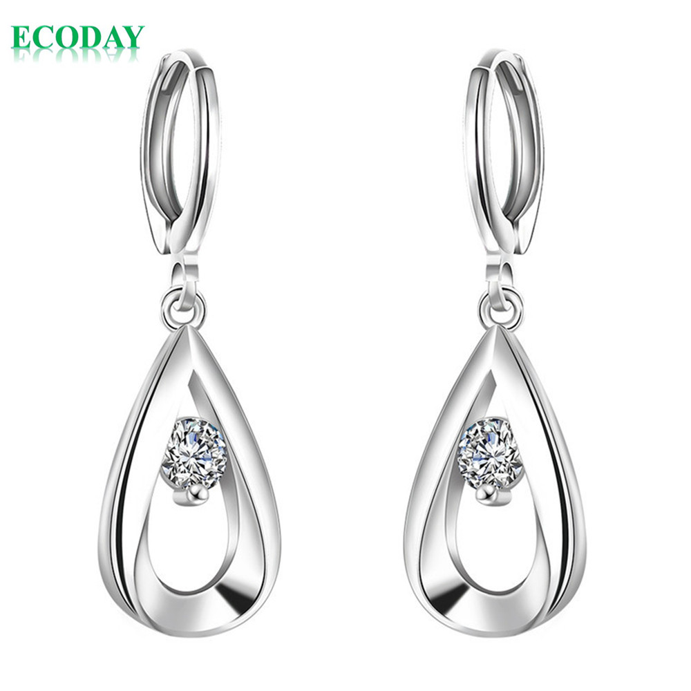 fashion jewelry silver earrings cubic zirconia silver stud