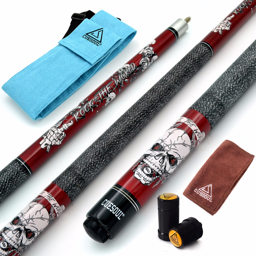 Cuesoul Rock Ii 57 Quot 19 20 21 Oz Red Pool Cue Stick With