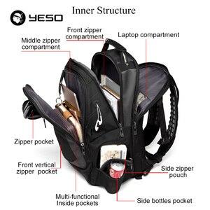 Image 4 - YESO Marka Dizüstü Sırt Çantası erkek seyahat çantaları 2019 Çok Fonksiyonlu Sırt Çantası Suya Dayanıklı Siyah Bilgisayar Sırt Çantaları Genç Için