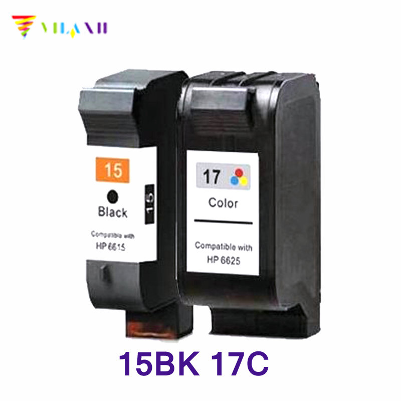 Vilaxh compatible Ink Cartridge 15 17 replacement for hp 15 17 DeskJet 840 15 842 843 845c 2110 7550 2110 3325 5550 printer ink lcl 57 c6657a c6657aa 1 pack tri color ink cartridge compatible for hp deskjet 450ci 450cbi 450wbt 5150 5150w 5550 5551 5650
