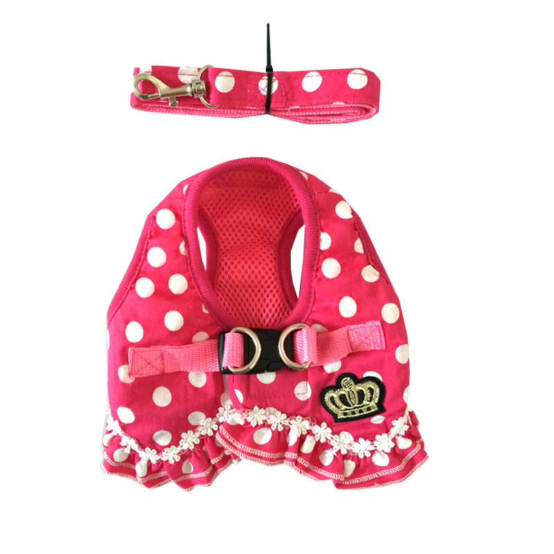 Luxury Girl  Design Pet Dogs Chest Harness Free Shipping Small Puppy Supplies Drop Shipping Cheap Dog Supplies