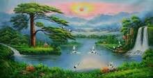Ручная картина маслом на канвасе Картина холсте в китайском
