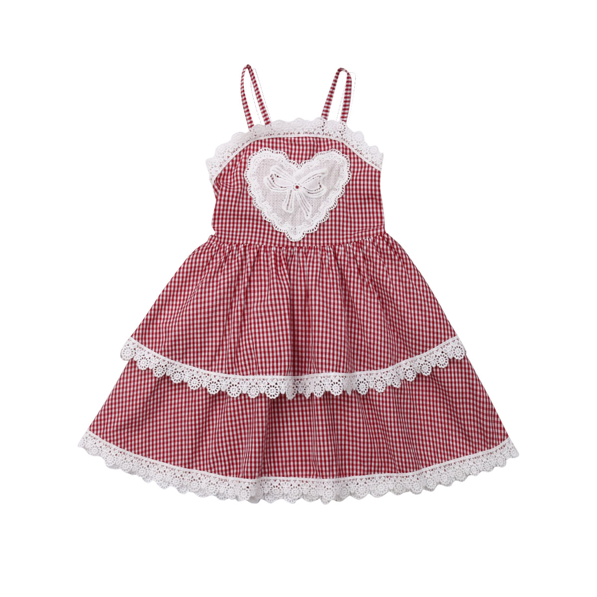 Toddler Infant Girls Plaids Dress Princess Party Dresses Baby Summer 2019 Spaghetti Straps Sleeveless A-line Sundress Dress