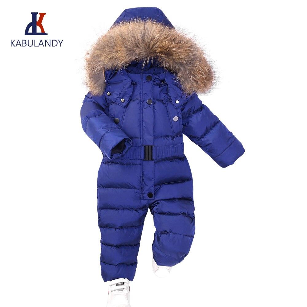 Bébé siamois doudoune enfants couleur unie blanc canard vers le bas manteau garçon ski costume coupe-vent et imperméable filles vers le bas hiver 90%
