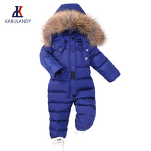 Winter Snowsuit Boy Baby Jacket Duck Down Outdoor Infant Clothes Girls clothing For Boys Kids Jumpsuit park coat fur child jumpsuit duck down hooded fur collarjackets for newborns snowsuit warm overalls wear infant kids girl winter romper clothing set