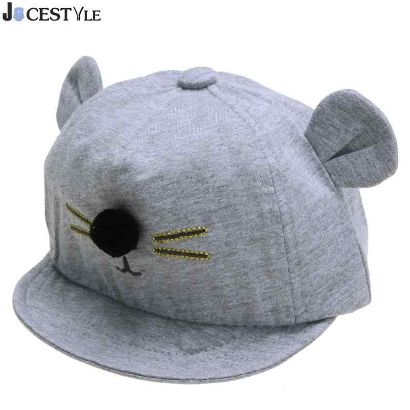 9624cc87 ... Gorro para bebé con diseño de gato bonito gorra de béisbol de algodón  para niños y ...
