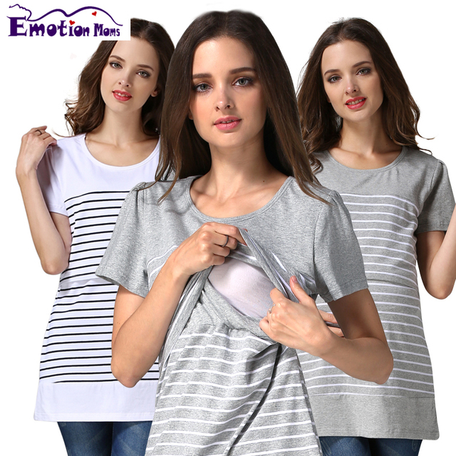 Emotion Moms New casual Maternity regnancy Breastfeeding clothes for pregnant women Nursing top Maternity Tops feeding T-shirt