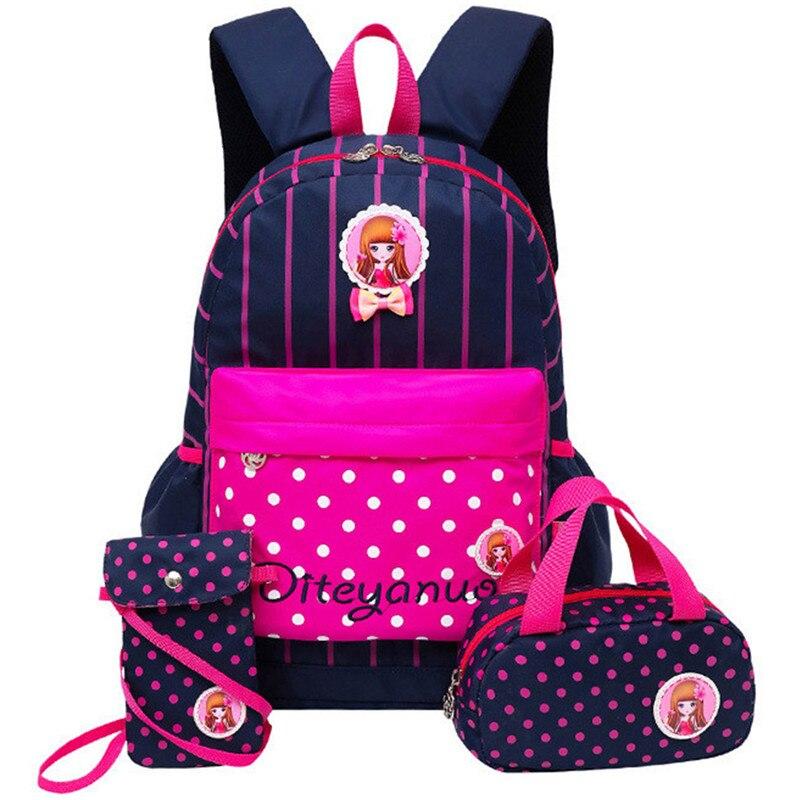 3 pièces/ensemble impression sacs d'école sac à dos cartable mode enfants beaux sacs à dos pour enfants adolescentes écolière Mochila