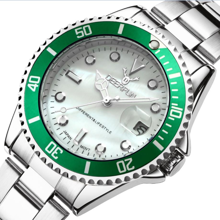 zegarki meskie Zegarek męski DEERFUN marka luksusowa GMT Obrotowa - Męskie zegarki - Zdjęcie 2