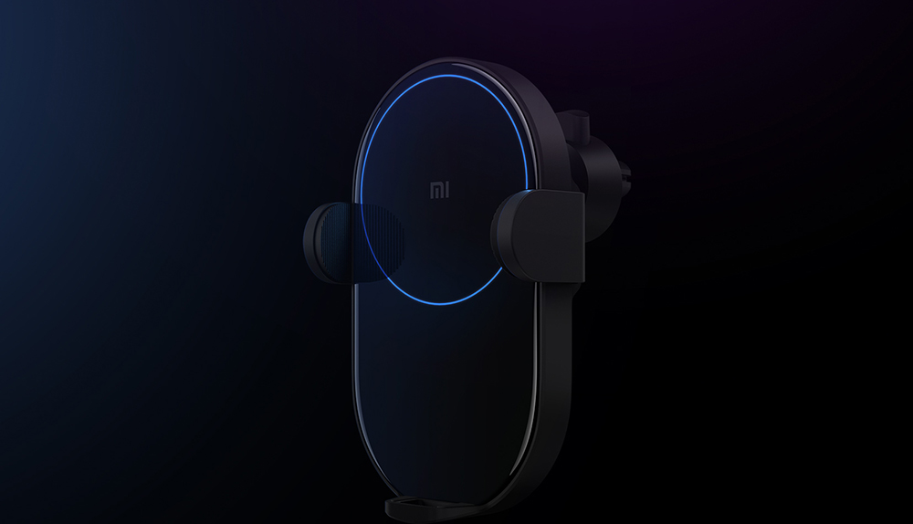 Xiaomi Mijia Wireless Car Charger Fast Charge 20W Max Electric Auto Pinch 2.5D Glass Ring Lit For Mi 9 10W 5