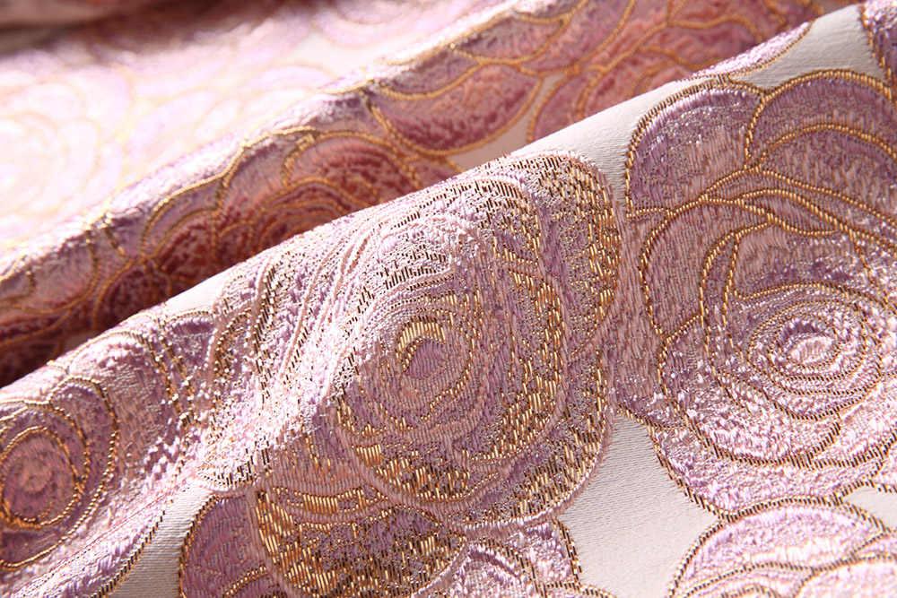 Для женщин большие лацканы, тонкая талия жаккардовая Вышивка ограниченной Роскошные Тренчи для женщин большой качели ретро дамы 3/4 рукав ветровка пальто