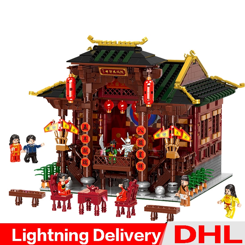 XINGBAO 01020 Chinese Style Building The Chinese Theater Set Building Blocks Bricks Toys compare lepining building LP toysXINGBAO 01020 Chinese Style Building The Chinese Theater Set Building Blocks Bricks Toys compare lepining building LP toys