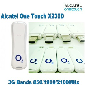 Lot of 100pcs Unlocked o2 Alcatel X230D 7.2mbps USB 3G USB Stick Mobile Broadband Dongle Modem,DHL shipping