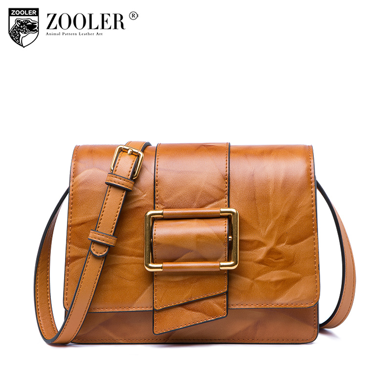 losing sale!!ZOOLER Handmade woman leather shoulder Bags cross body 2018 genuine leather bag small luxury bolsa feminina # R135 zooler 2018 luxury genuine leather bag for woman chain shoulder bag designer woman fashion cross body bags bolsa feminina bc100
