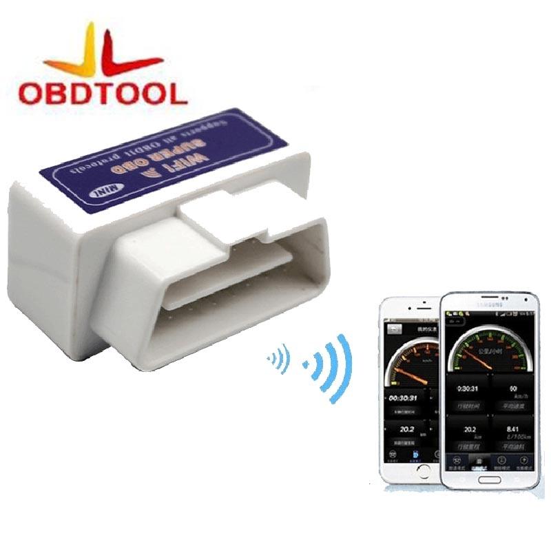 New Super mini WiFi elm327 Elm 327 WiFi v1.5 obd2 II herramienta de diagnóstico del coche OBD 2 Interfaz soporta Android /ios/Ventanas