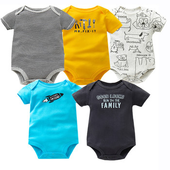 848e6319a42d8 5 PCS/LOT Newborn Baby Rompers Cartoon Baby Unisex Jumpsuit 2018—Free  Shipping