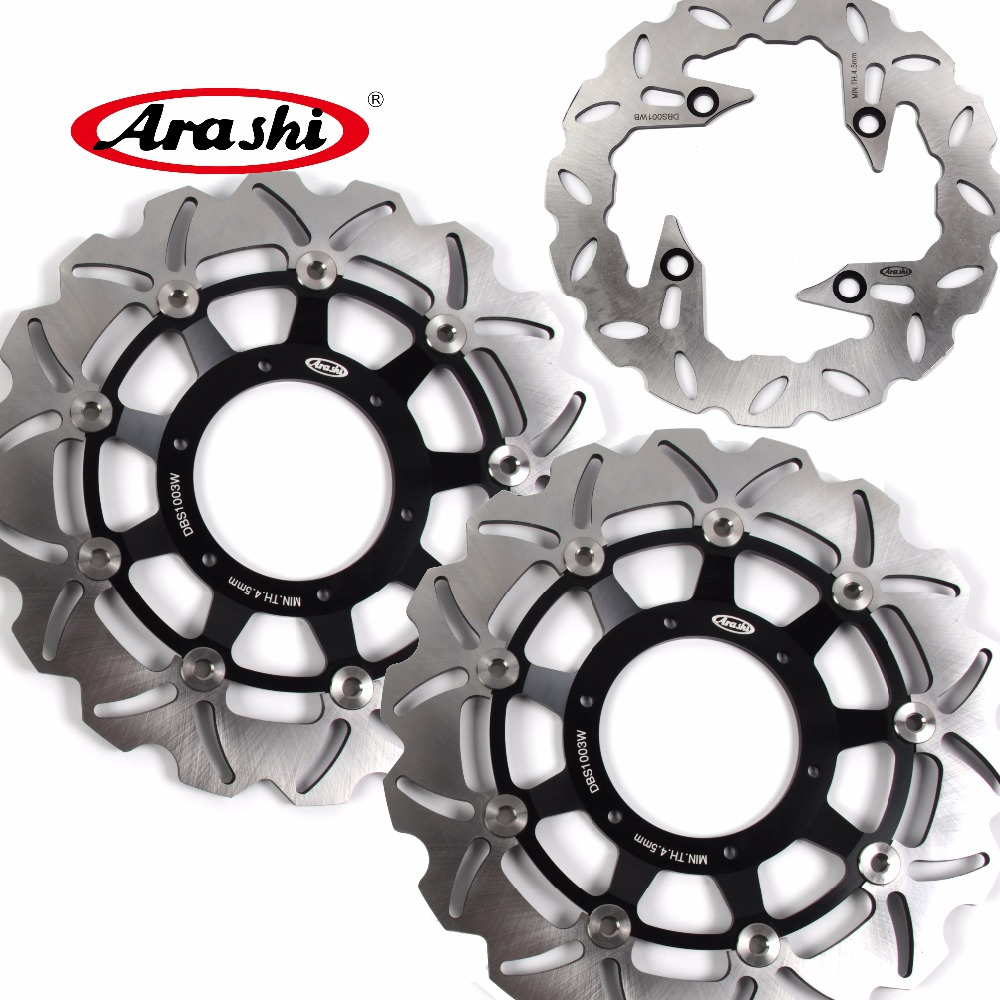 Arashi 1 Set For HONDA CB F HORNET 900 2002 2003 2004 2005 2006 CBF HORNET 900 CNC Front Brake disk & Rear Brake Disc Rotor arashi cnc rear brake disc brake rotors for honda cb250 cb400 cb500 cb500s 1991 2000 2001 2002 2003 2004 2005 2006