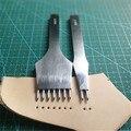 Новые кожаные инструменты для обработки рукоделия DIY ПРОКАЛЫВАЮЩИЕ железные предметы 3 мм/4 мм расстояние 2 + 7 зубец