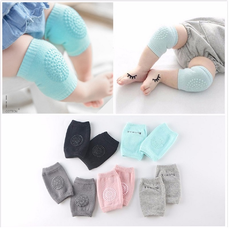 Multicolor Baby Knee Pads Baby Safety Crawls Baby Leg Warmers Knee Protectors For Children Baby Kneecap Accessories Hot Sale ...