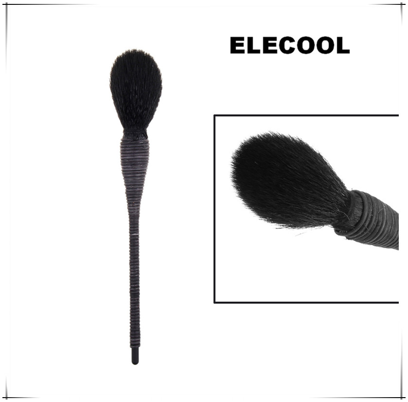 And Children Women Single Multi-functional Design Makeup Brush Black Brush Wool Cone-shaped Spiral Dome Wool Rattan Cosmetic Makeup Brush Black Suitable For Men