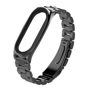 Image 2 - Mi jobs Metall Strap Für Xiao mi mi Band 3 Strap Schraubenlose Edelstahl Armband Armband Ersetzen Zubehör Für mi band 3