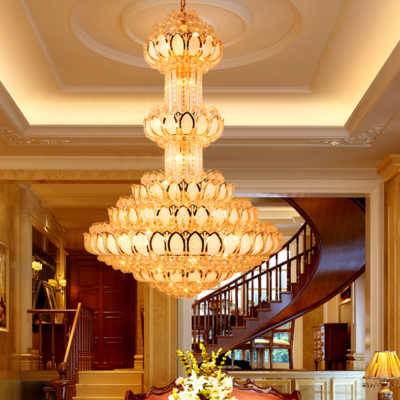 Lotus Crystal Ljuskrona Ljusarmatur LED Guld Crystal Ljuskronor - Inomhusbelysning - Foto 2
