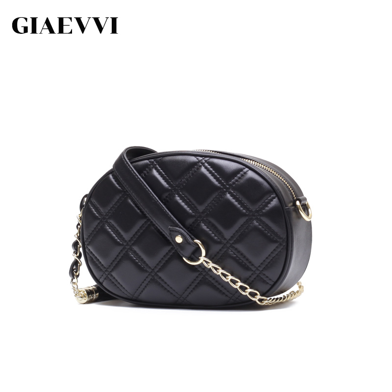 GIAEVVI women messenger bags genuine leather handbags fashion shoulder bag ladies handbag brand small chain bag high quality стоимость