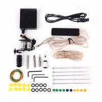 Professional Complete Tattoo Kit Machine Set Starter Body Art Equipment With Power Supply Grip Needles Accessories